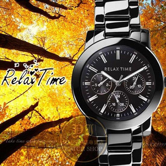 Relax Time關詩敏代言經典三眼錶款-銀/黑/42mm R0800-16-09X公司貨/MIT/原創設計