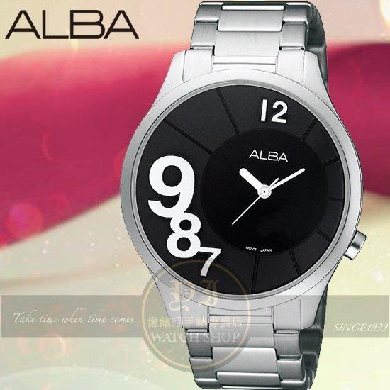 ALBA 楊祐寧代言Lady活力時尚腕錶-黑x白/38mm/VJ21-X037D/AH8219X公司貨
