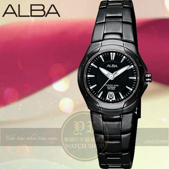 ALBA 楊祐寧代言PRESTIGE簡約腕錶-IP黑/26mm VX82-X420K公司貨/情人節