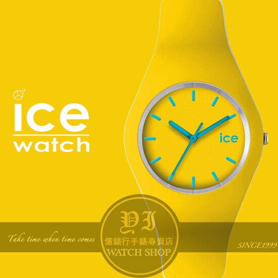 ICE Watch比利時潮流品牌ICE系列超薄矽膠腕錶-黃ICE.YW.U.S.12公司貨