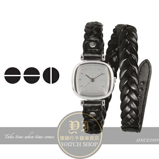 KOMONO比利時設計品牌MONEYPENNY WOVEN BLACK腕錶/24mm KOM-W1231公司貨/禮物