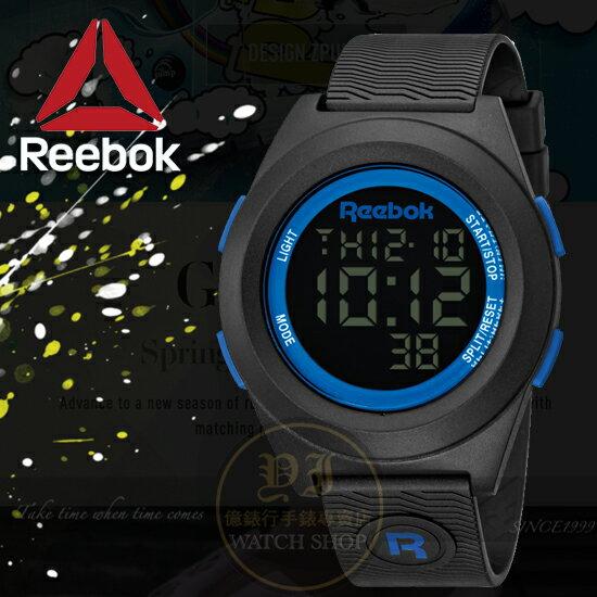 Reebok運動潮流品牌DI-R-BLOCK PARTY系列腕錶-藍/40mm RC-DBP-G9-PBPB-BL公司貨