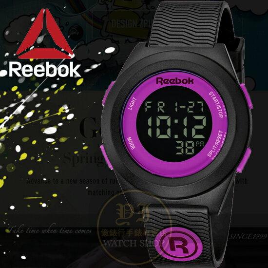 Reebok運動潮流品牌DI-R-BLOCK PARTY系列腕錶-紫/40mm RC-DBP-L9-PBPB-BU公司貨
