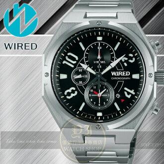 WIRED日本原創RIGID武士戰神計時腕錶-黑/38mm T92-X254D/AF8R77X1公司貨/柯有倫廣告/聖誕節/禮物
