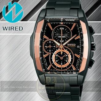 WIRED日本原創REFLECTION 強悍計時腕錶-IP黑/39mm 7T92-X263K/AF8T57X1公司貨