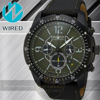 WIRED RIGID 神話傳奇計時腕錶-軍綠/46mm 7T12-X001G/AW8007X公司貨/柯有倫/廣告/聖誕節/生日禮物