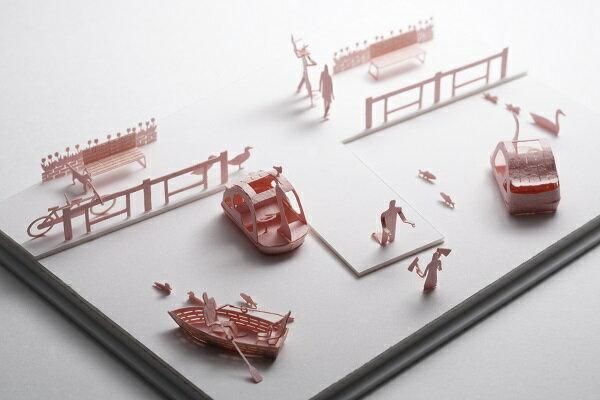 【寺田模型】建築紙模型鴨鴨船手作DIY交換禮物