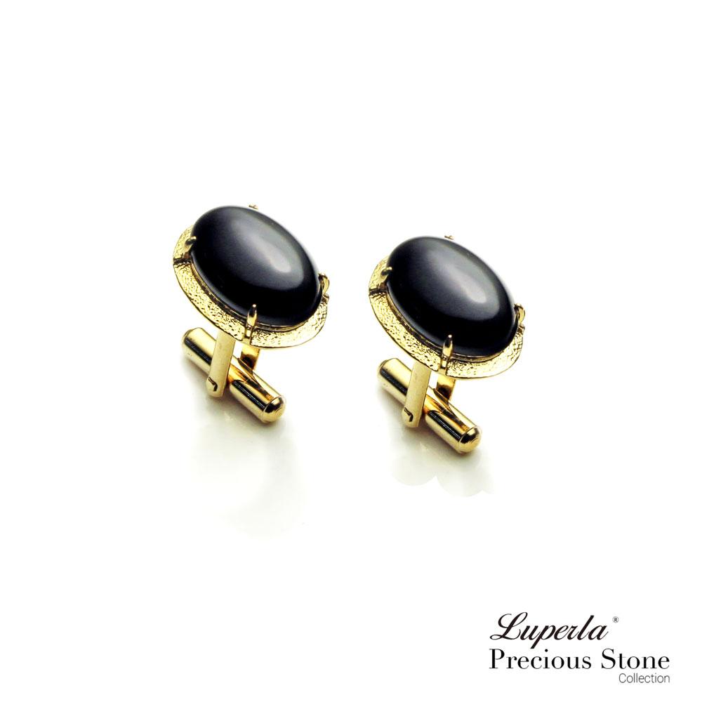 大東山珠寶 黑色帥氣 仕紳系列 黑瑪瑙  西裝領徽 袖扣 0