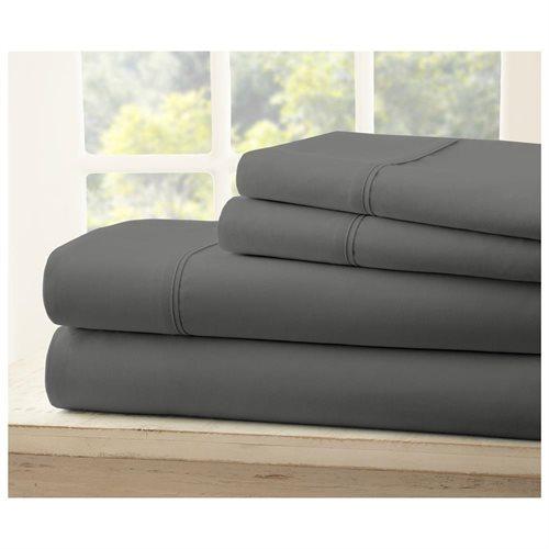 4-Pc Premium Ultra Soft Microfiber Bed Sheet - Gray 0