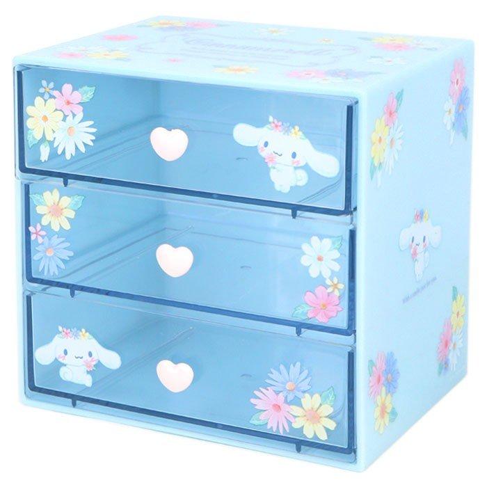 大耳狗Cinnamoroll3層桌上置物櫃,置物盒 / 收納盒 / 抽屜收納盒 / 筆筒 / 桌上收納盒,X射線【C707036】 0