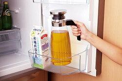 日本品牌【iwaki】玻璃把手冷水瓶 輕量好拿 1.3L KT297K-SV