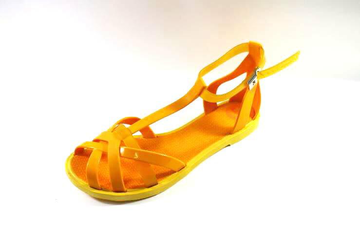[陽光樂活]Zaxy(女)- Frozen Sandal 果凍 羅馬涼鞋-ZA8175690073 橘黃