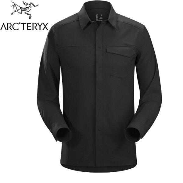 Arcteryx始祖鳥排汗襯衫休閒襯衫登山長袖襯衫Skyline男款19065黑色