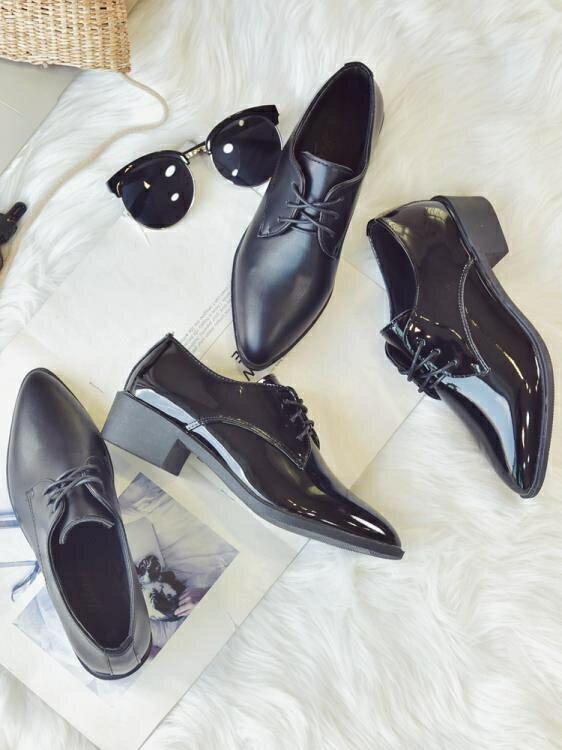 牛津鞋 英倫風ins小皮鞋女學生2021春季新款韓版百搭ulzzang單鞋粗跟女鞋