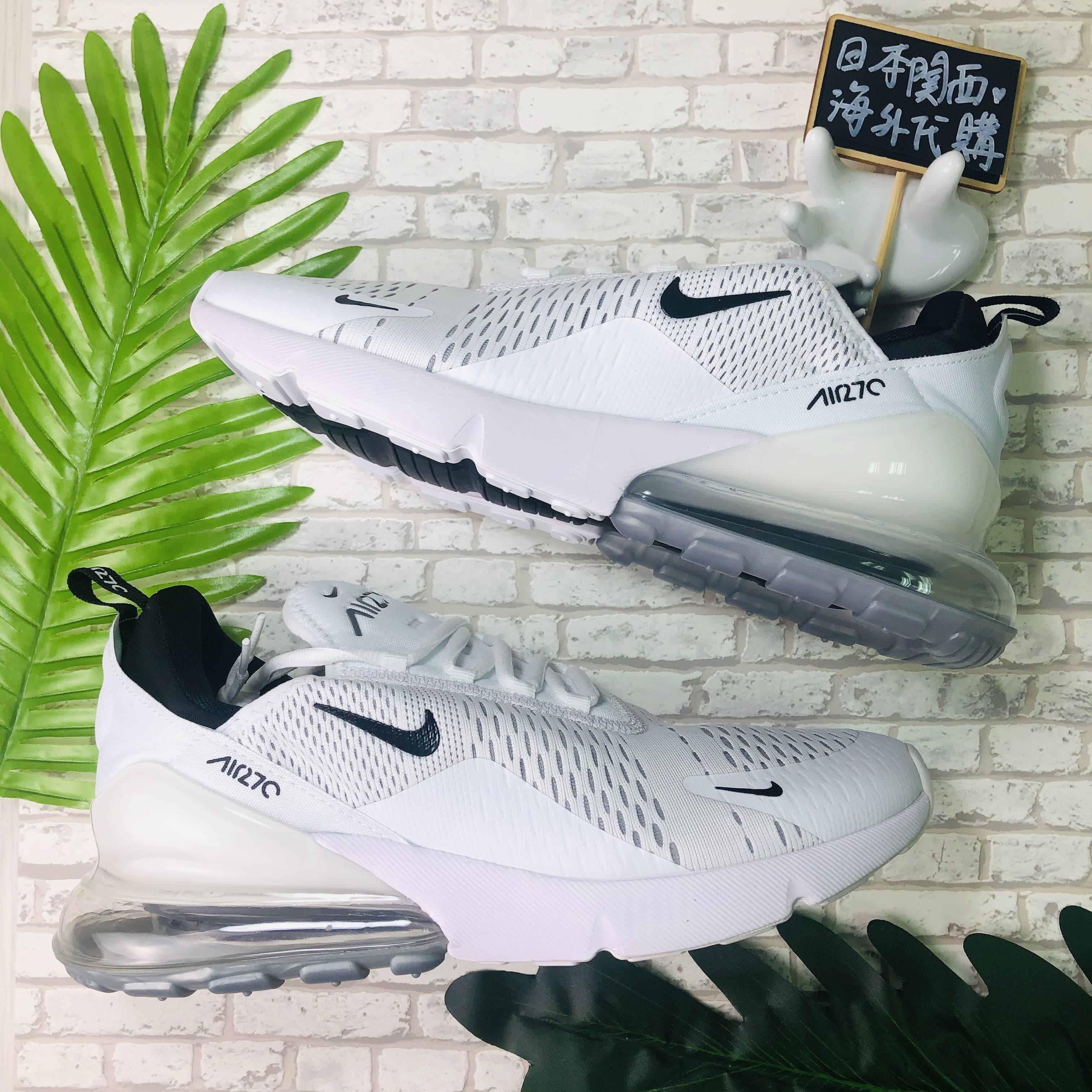 【日本海外代購】Nike Air Max 270 全白 氣墊 網面 白黑 冰藍 慢跑 男鞋 AH8050-100