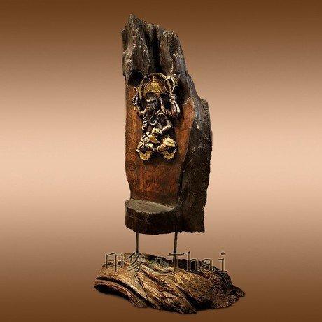 象神擺件 象鼻神 裝飾品木雕工藝品 宗教擺設裝飾 大象
