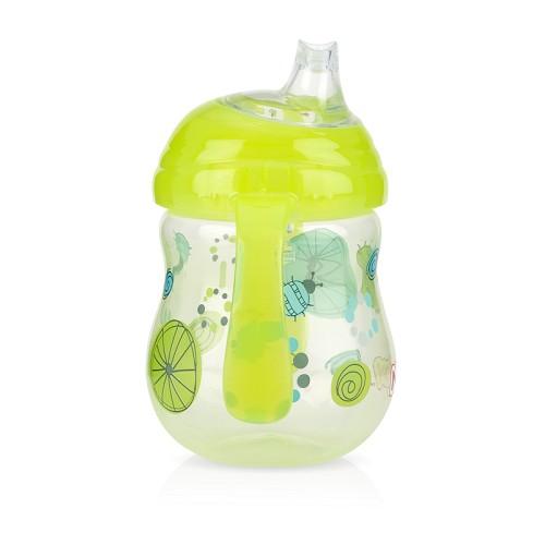 Nuby - 卡拉防漏雙耳飲嘴杯 270ml 綠色幾何款 卡拉杯系列任二件加贈Nuby - 多功能水杯帶! 0
