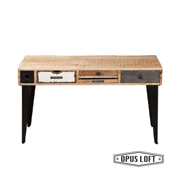 純真年代Opus Loft:復古工業風法式滑鐵盧工作桌功能型邊桌