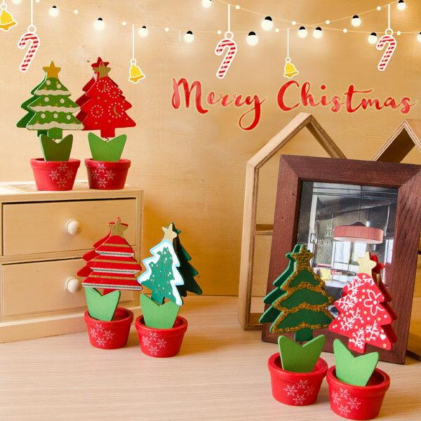 【aife life】木質聖誕樹名片夾/聖誕襪老人/麋鹿/拐杖糖/薑餅人/聖誕樹節裝飾/照片小木夾/辦公室文具相片夾/留言memo夾/拍立得謝卡夾/席位座/婚禮小物/贈品禮品