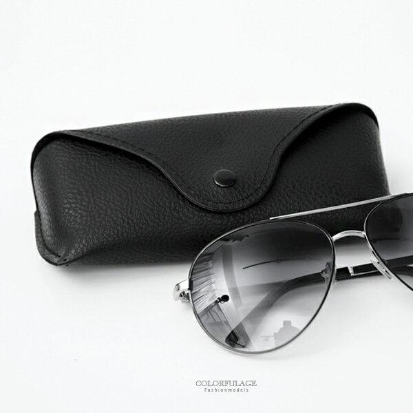 眼鏡盒沉穩黑色皮革眼鏡盒柒彩年代【NYB12】