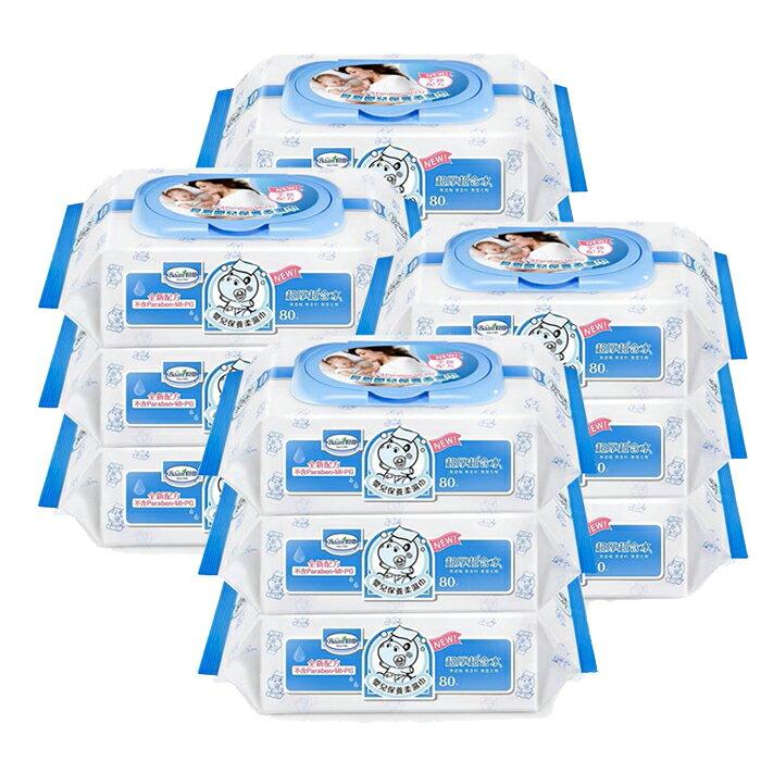 貝恩 BAAN 超厚超純水濕紙巾 80抽 / 12包/箱 嬰兒柔濕巾 2466 箱購