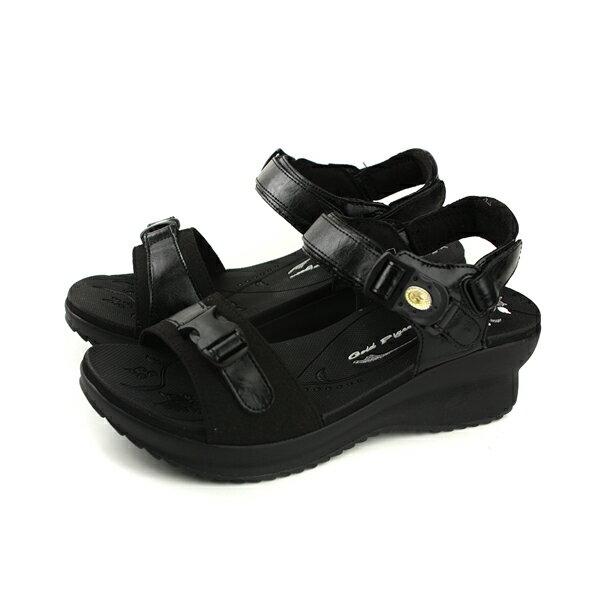 GP(Gold.Pigon)阿亮代言涼鞋女鞋防水雨天厚底黑色G8696W-10no915
