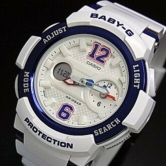國外代購 CASIO BGA-210-7B2 少女時代城市簽名限定版 女錶 手錶 腕表 情侶錶 藍白