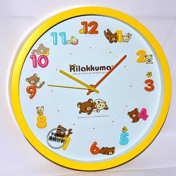 NOBA 不只是禮品:拉拉熊懶懶熊時鐘掛鐘靜音日本帶回正版商品