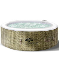 Goplus 4-6 Person Inflatable Hot Tub Portable Heated Massage Spa White