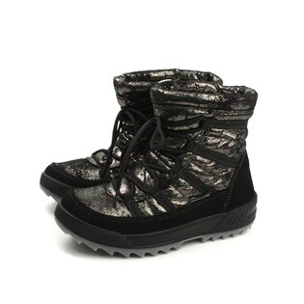 HUMAN PEACE:Grunland靴子雪靴內鋪毛保暖黑金色女鞋DO0262no008