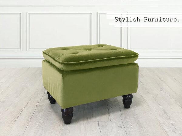 新生活家具NewlifeFurniture:!新生活家具!方凳芥茉綠矮凳椅凳穿鞋椅化妝椅腳凳絨布沙發腳椅《炫彩》非H&Dikea宜家