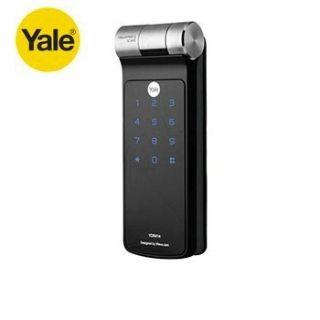 YALE耶魯 YDR818 熱感觸控指紋輔助門鎖 /卡片/密碼/KEY 三合一