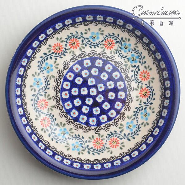 波蘭陶典雅花團系列圓形深餐盤陶瓷盤菜盤水果盤圓盤深盤22cm波蘭手工製