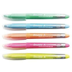 【Double A 螢光筆】Double A  DAHL 淡色系列 螢光筆
