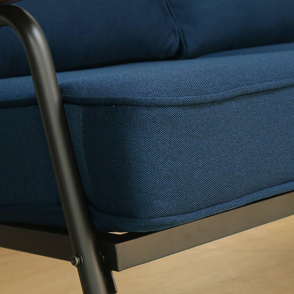 日式 推薦 Marico馬力克工業風鐵架L型沙發 / 雙人沙發+腳凳  /  H&D 2