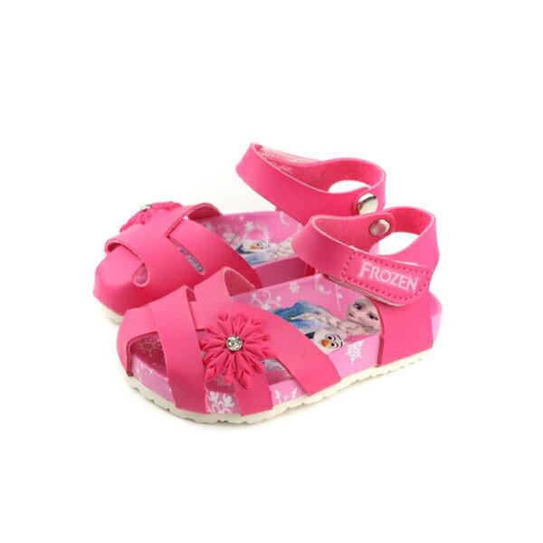 Frozen冰雪奇緣涼鞋童鞋桃紅色中童FOKT84182no632