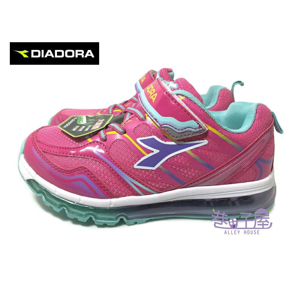 【巷子屋】義大利國寶鞋-DIADORA迪亞多納 女童全掌型大氣墊運動慢跑鞋 [3012] 桃 超值價$498