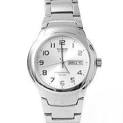 CASIO卡西歐亮銀數字防水鐵錶【NEC72】柒彩年代