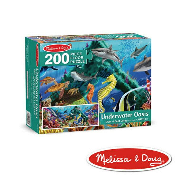美國瑪莉莎 Melissa & Doug 大型地板拼圖海洋生物200 片
