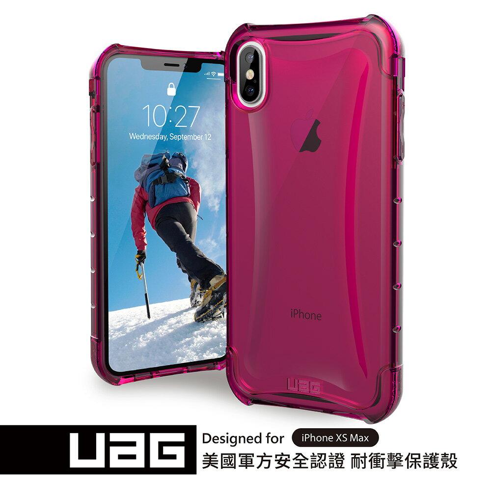 UAG iPhone XS Max 耐衝擊全透保護殼-透粉 (下單贈Riivan鋼化玻璃抗油汙抗刮保護貼)