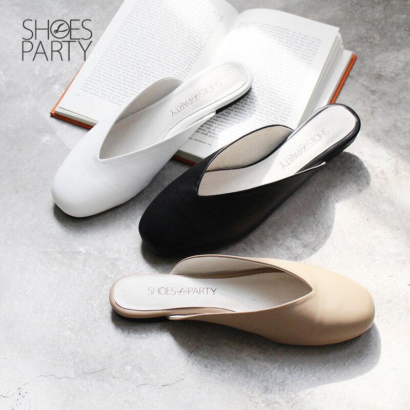 【S2-18529L】小方頭真皮穆勒鞋_Shoes Party 0