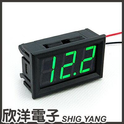 ※ 欣洋電子 ※ 防水型 0.56 三位元 LED 電壓錶頭 AC 60~500V / 紅、綠、藍,多色光自由選購 / 0695B系列