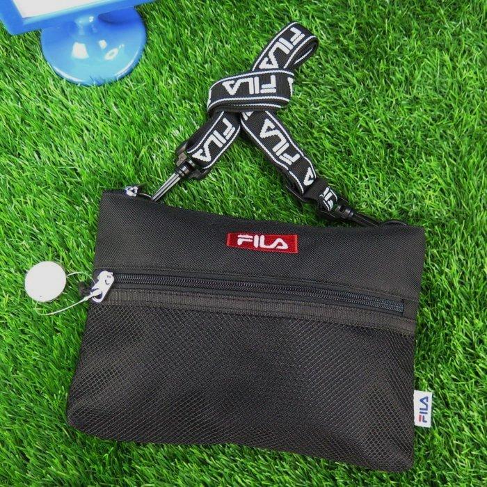 【iSport代購】FILA 側肩背小包 全新正品 經典 FM2097BLK 黑色