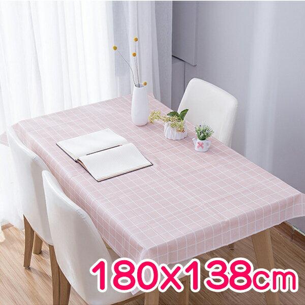 廚房用品 北歐田園風防水格紋桌巾180x138cm 桌布 防髒餐桌書桌墊子野餐 居家裝飾整