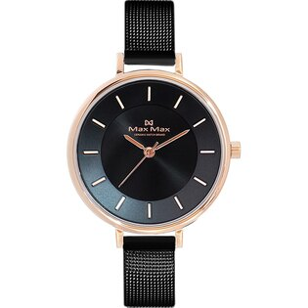 MaxMaxMAS7015-1迷人簡約米蘭帶腕錶-玫瑰金32mm