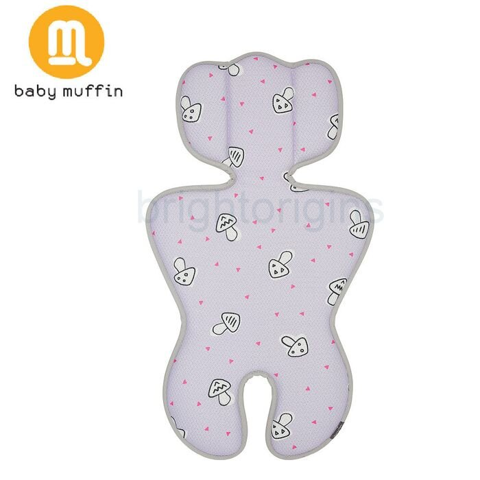 baby muffin 推車汽座兩用3D透氣墊/ 涼墊(森紫蘑菇)★ 衛立兒生活館★