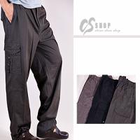 【CS衣舖 】30-50腰大尺碼 百分百純棉 側口袋、多口袋休閒褲 三色 3975 0