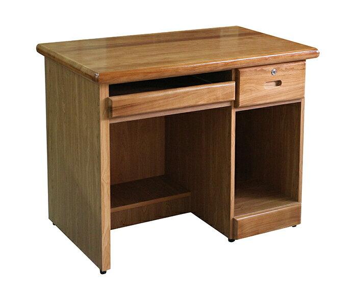 【尚品家具】868-10 馬瑙斯赤陽色3.2尺半實木電腦桌(另有4.2尺、樟木色)/事務桌/工作桌/Desk