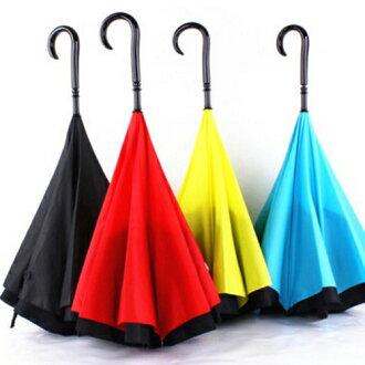 【香草花園】繽紛雙色時尚設計高質感抗UV反向傘 開車必備 限量搶購