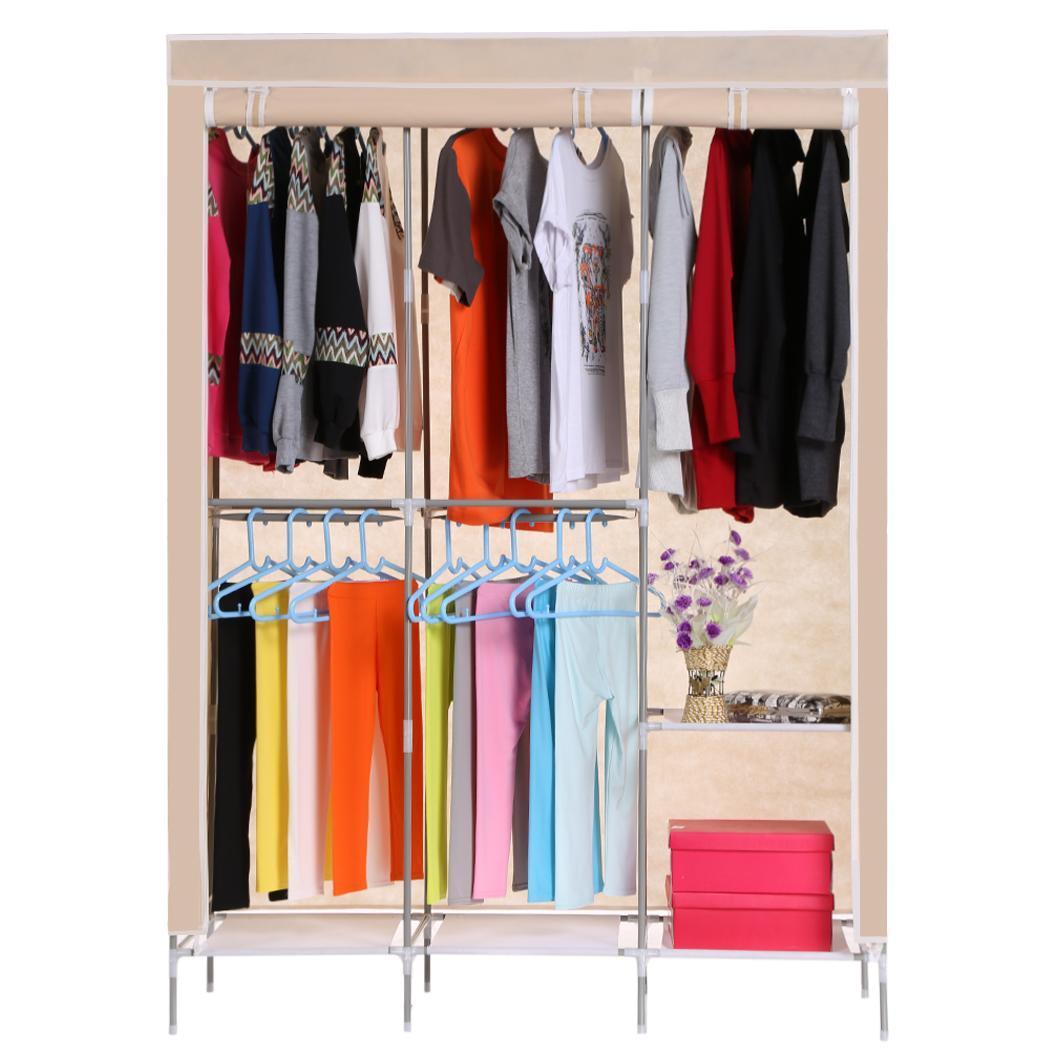 Non-Woven Folding Practical Closet Wardrobe 0